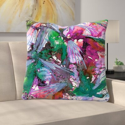 Birds of Prey Throw Pillow Size: 16 H x 16 W x 6 D, Color: Green / Pink