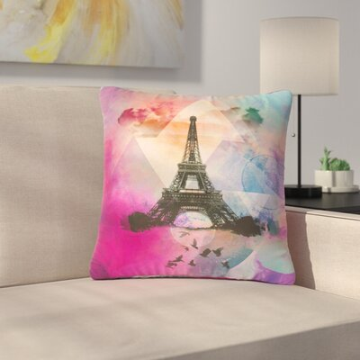 AlyZen Moonshadow Eiffel Tower France Outdoor Throw Pillow Size: 18 H x 18 W x 5 D