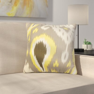 Shekhar Printers Row Ikat Cotton Throw Pillow Color: Gray