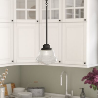 Margaree 1-Light Schoolhouse Mini Pendant Finish: Oil Rubbed Bronze