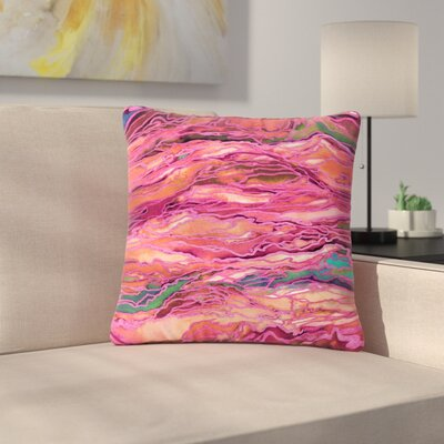 Ebi Emporium Marble Idea!, Miami Heat Outdoor Throw Pillow Size: 18 H x 18 W x 5 D