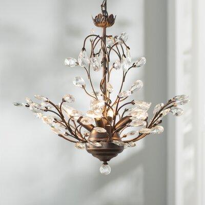 Alijah 4-Light LED Crystal Chandelier