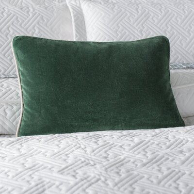 Vedika Velvet Lumbar Pillow Color: Hunter Green