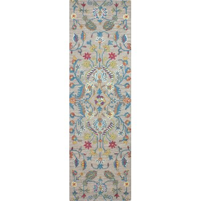 Hickson Hand-Woven Wool Taupe Area Rug Rug Size: Runner 26 x 8