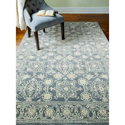 Kinman Hand-Woven Azure Area Rug Rug Size: Rectangle 56 x 86