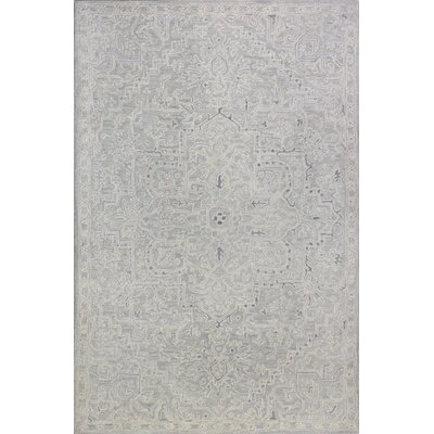 Kinman Hand-Woven Silver Area Rug Rug Size: Rectangle 56 x 86