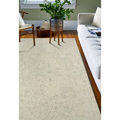 Kinman Hand-Woven Silver Area Rug Rug Size: Rectangle 86 x 116