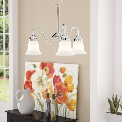 Francisca 3-Light Bell Mini Chandelier Finish: Polished Chrome