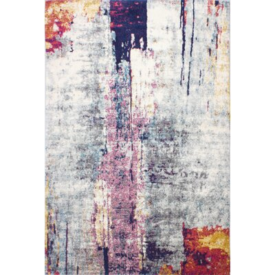 Goyette Silver Area Rug Rug Size: Rectangle 86 x 116