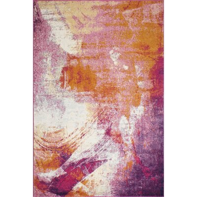 Goyette Fuchsia Area Rug Rug Size: Rectangle 76 x 96