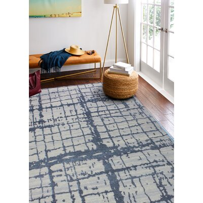Diego Cotton Gray Area Rug Rug Size: Rectangle 5 x 7