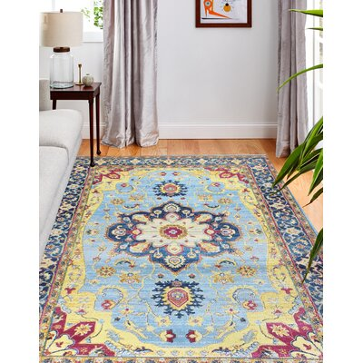 Drye Light Blue Area Rug Rug Size: Rectangle 36 x 56