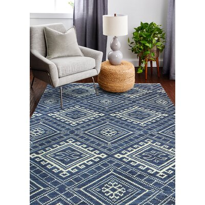Colvin Hand-Woven Wool Navy Area Rug Rug Size: Rectangle 5 x 76
