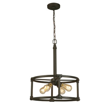 Dessert 4-Light Drum Pendant Finish: Matt Bronze