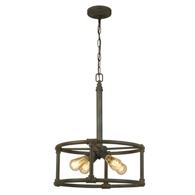 Dessert 4-Light Drum Pendant Finish: Zinc