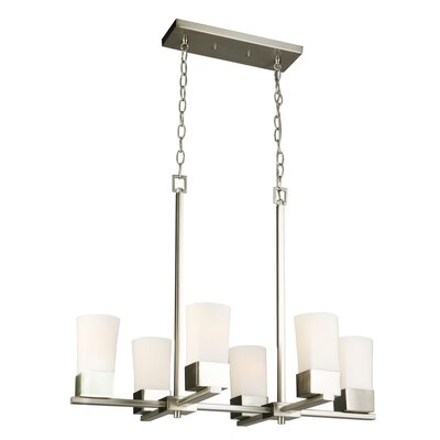 Lanclos 6-Light Candle-Style Chandelier Finish: Brushed Nickel