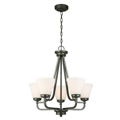 Cintron 5-Light Candle-Style Chandelier Finish: Graphite