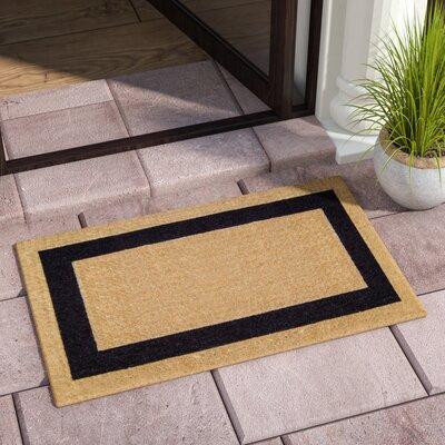 Grayson Single Picture Frame Doormat Mat Size: 22 H x 36 W x 1.5 D, Color: Black