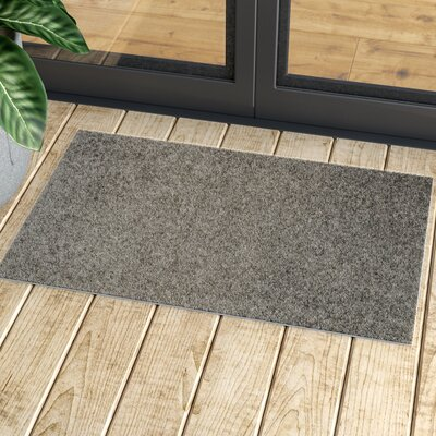 Burns Solid Doormat Color: Gray