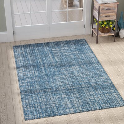 Milivoje Blue Abstract Area Rug Rug Size: Rectangle 5 x 76