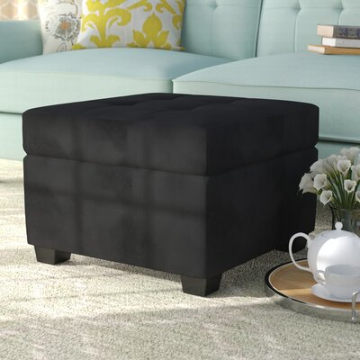 Grace Ottoman Upholstery Color: Ebony Black