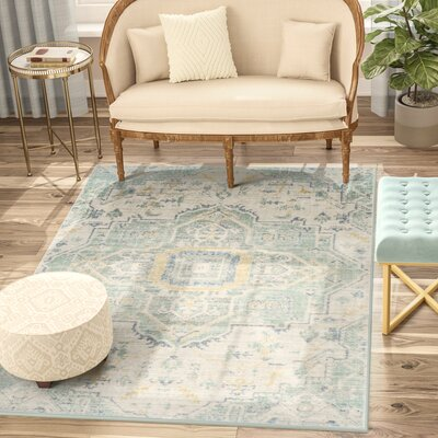 Chauncey Blue Area Rug Rug Size: Rectangle 3 x 8