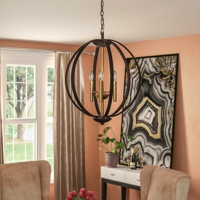Kieran 3 Light Foyer Pendant Finish: Spanish Bronze