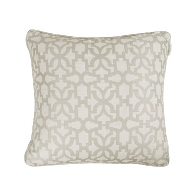 Emrich Jacquard Throw Pillow Color: Natural