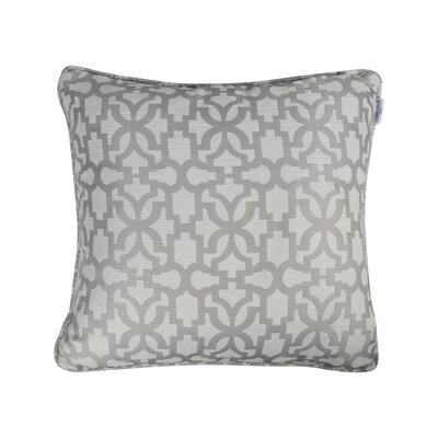 Emrich Jacquard Throw Pillow Color: Gray