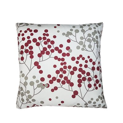Northrup Microfiber Throw Pillow Color: Red