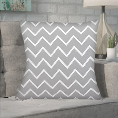 Northville Decorative Chevron Throw Pillow Color: Gray