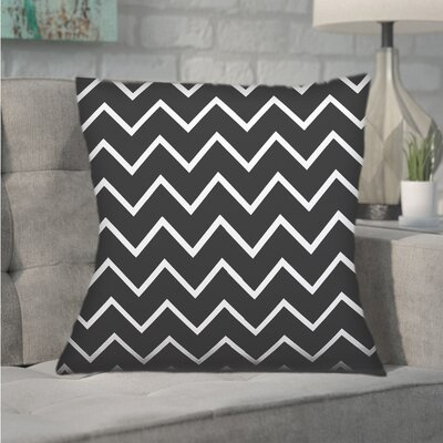 Northville Decorative Chevron Throw Pillow Color: Charcoal