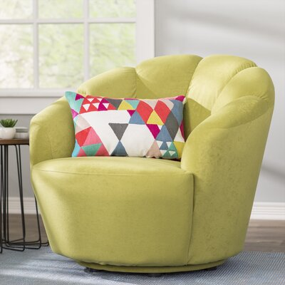 Giovanna Swivel Barrel Chair Upholstery: Light Green