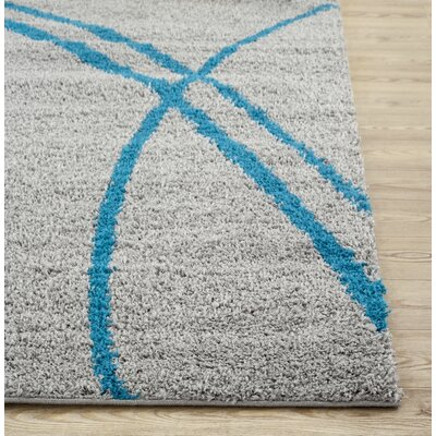 Caressa Turquoise/Gray Area Rug Rug Size: Rectangle 9 x 12