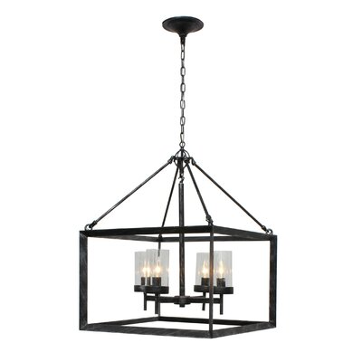 Vickrey 4-Light Foyer Pendant Finish: Antique Silver