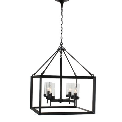 Vickrey 4-Light Foyer Pendant Finish: Black