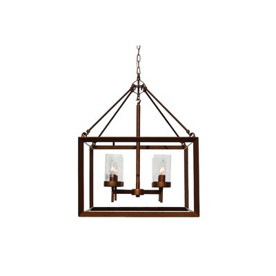 Vickrey 4-Light Foyer Pendant Finish: Rustic Bronze
