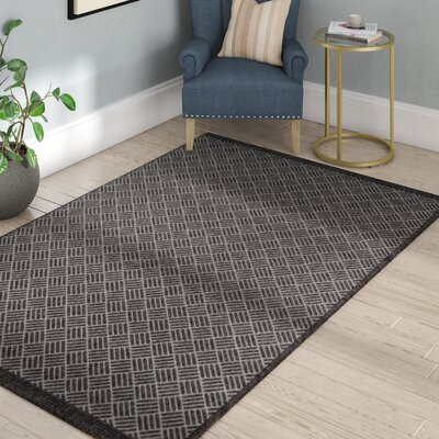 Milivoje Charcoal Area Rug Rug Size: Rectangle 910 x 132