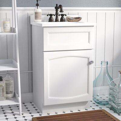 Liz 19 Single Bathroom Vanity Set Base Finish: Premium White