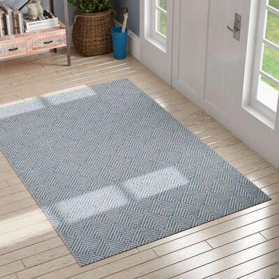 Milivoje Blue Area Rug Rug Size: Rectangle 5 x 76