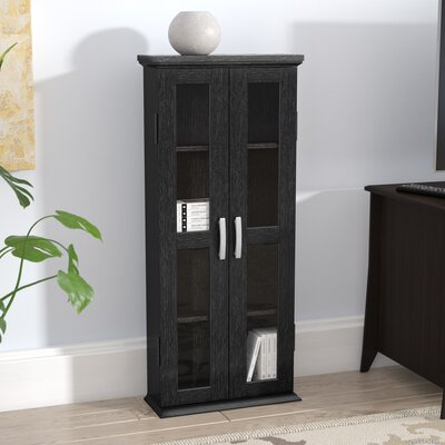 Wood DVD Multimedia Cabinet Finish: Textured Black