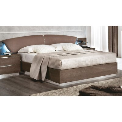 Edwards Upholstered Panel Bed Color: Walnut, Size: Queen