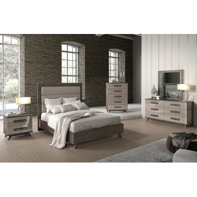 Cowden Upholstered Panel Bed Size: King