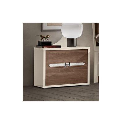 Redondo Modern Style 2 Drawer Nightstand