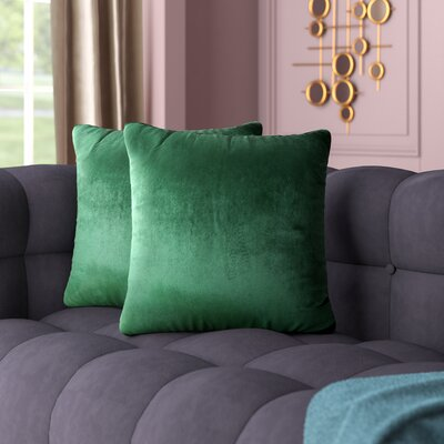 Owlswick Fabric Throw Pillow Color: Emerald