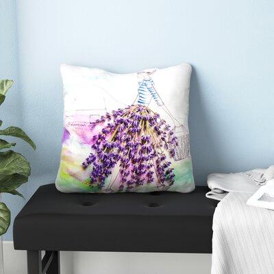 Lavender Lady Throw Pillow Size: 20 H x 20 W x 1.5 D