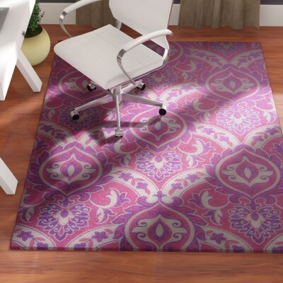 Audry Pink Area Rug Rug Size: 67 x 96