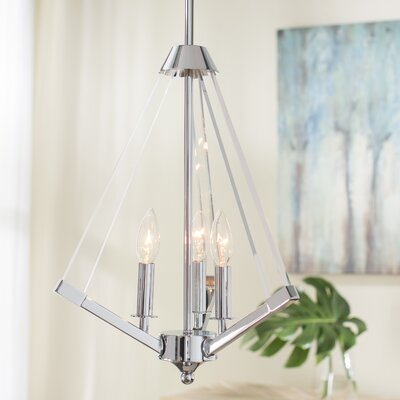 Meadow Lane 3-Light Mini Chandelier Finish: Polished Chrome
