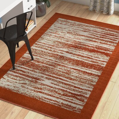 Alley Rock Terracotta Indoor/Outdoor Area Rug Rug Size: Rectangle 5 x 8