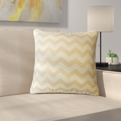 Shevlin Chevron Down Filled Throw Pillow Size: 24 x 24, Color: Shell
